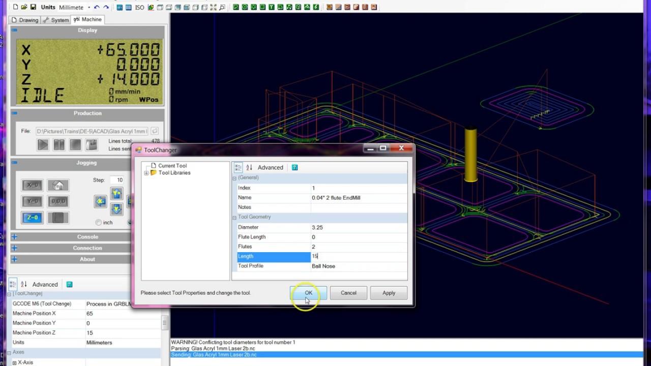 GRBL v1 1 Machine Control and GCODE sender Plugin
