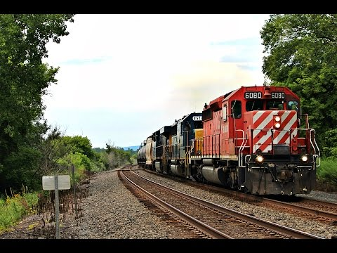 [HD] A Great Saturday In Upstate, NY On CSX's Mohawk Subdivision 8/15/15