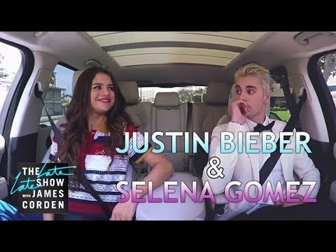 Latest justin bieber & Selena Gomez carpool karaoke