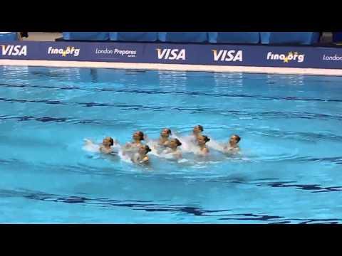 Natación sincronizada. Las ganadores rusas de los Juegos Olímpicos en Londres 2012