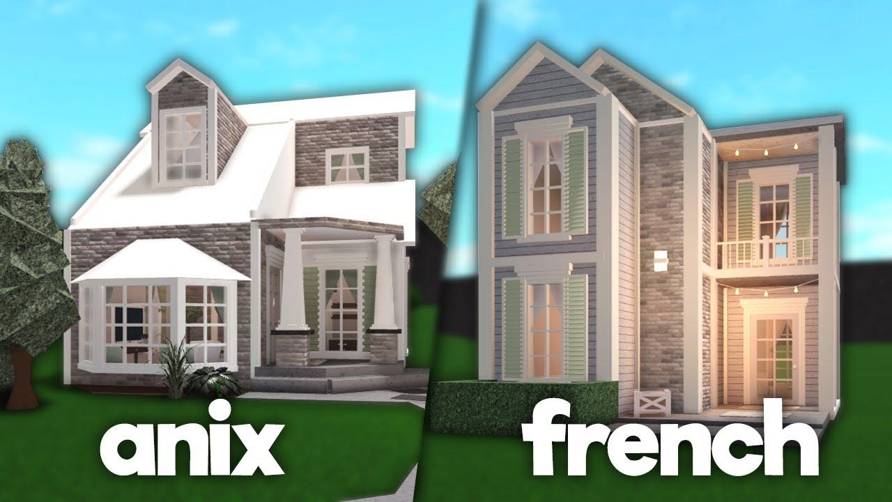 Roblox Bloxburg Family Home Anix 5x5 House Build Off W Frenchrxses Bloxburg Youtube
