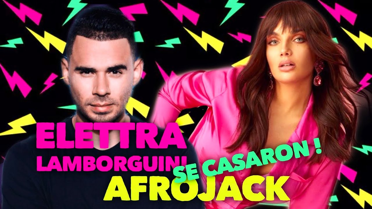 #Afrojack y #ElettraLamborguini se casaron