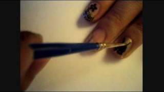 Nail Art Tutorial - Playboy Logo Nails (using Konad)