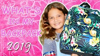 WHAT'S IN MY BACKPACK | EMILY |  SISTER FOREVER