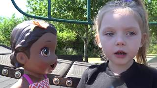 BABY ALIVE gets TAKEN! FUNNY kids SKIT. The Lilly and Mommy Show! The TOYTASTIC Sisters!