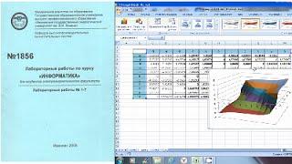 Лабораторная работа по Excel. Построение сложных графиков