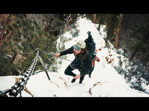 Hiking Angels Landing in Winter!