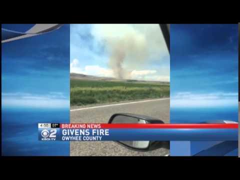Large Wild Fire in Owyhee County