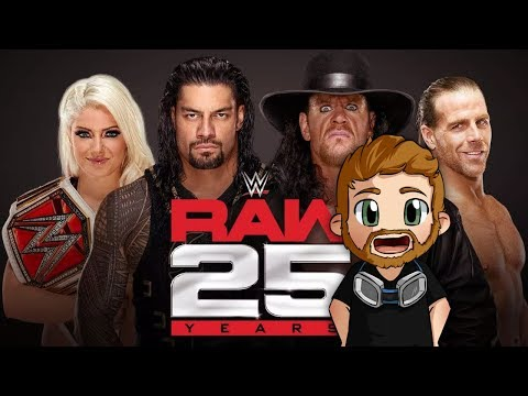 WWE RAW 25 (25TH ANNIVERSARY) (2018) LIVE STREAM LIVE REACTIONS WATCH PARTY