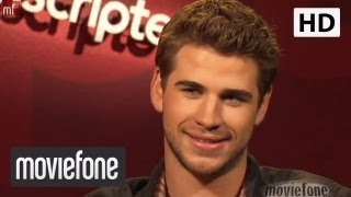 Unscripted with Miley Cyrus and Liam Hemsworth | Moviefone