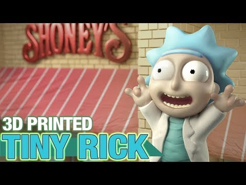 Tiny Rick! -  3D printing more fan requested Rick and Morty stuff