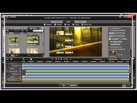 Elemente einblenden im Disk Editor von Pinnacle Studio 16 und 17 Video 109 von 114