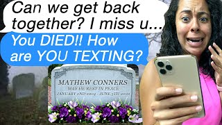 Texting My DEAD EX-BOYFRIEND!! ( Scary Text Message Story Time)