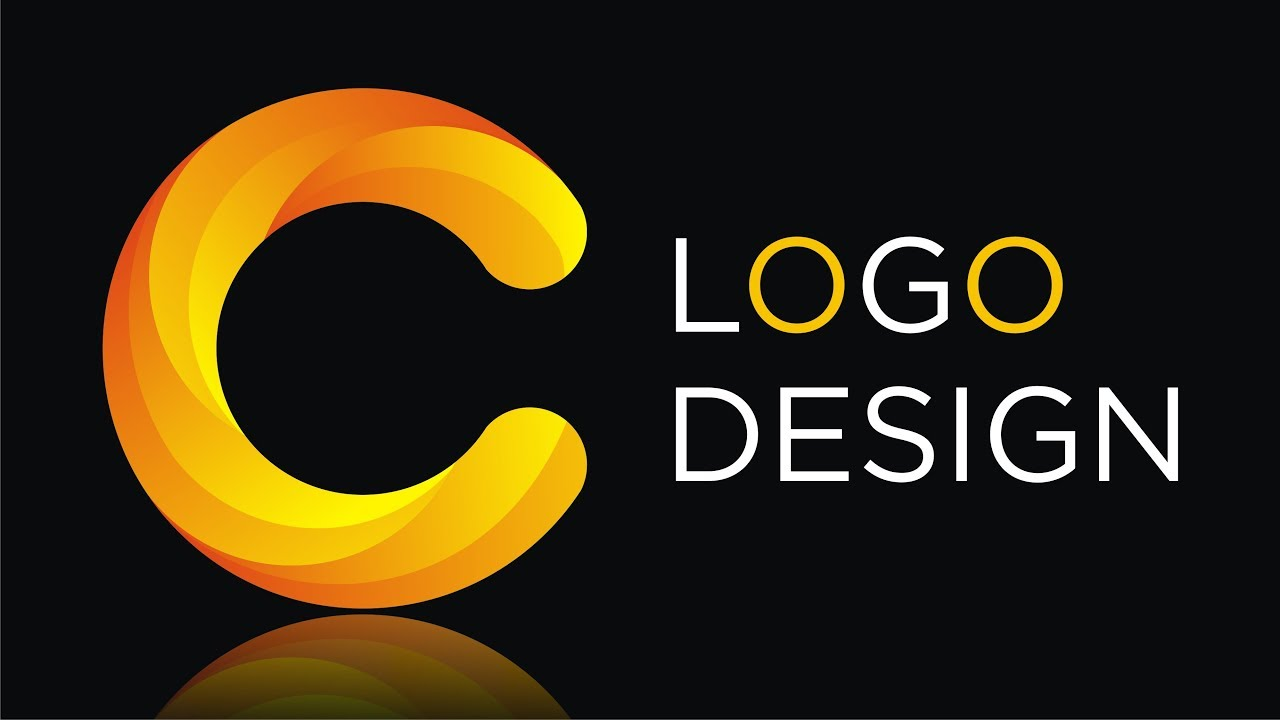 How to make 3d Logo Design in Coreldraw x7 - Colorful C Letter