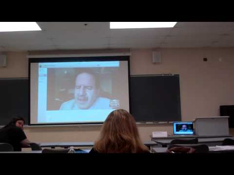 Robert Kubey, History of Media Literacy University of Rhode Island.  Via Skype.