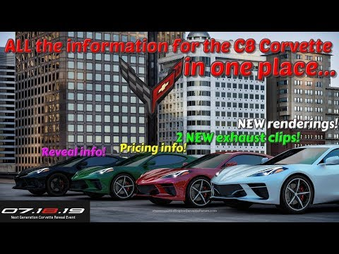EVERYTHING we KNOW about the C8 mid engine CORVETTE!! 2 NEW exhaust clips!!