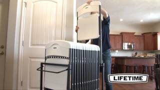 Folding Chair Racks Diy Black High Back Cushions Dolly Pdf Plans Lifetime 80279 Standing Storage Rack Cart