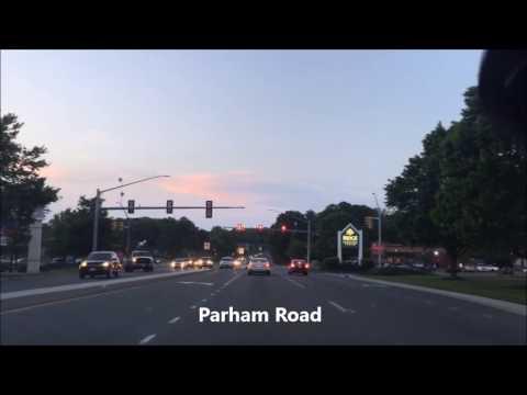 Driving in Henrico Virginia on Parham Road