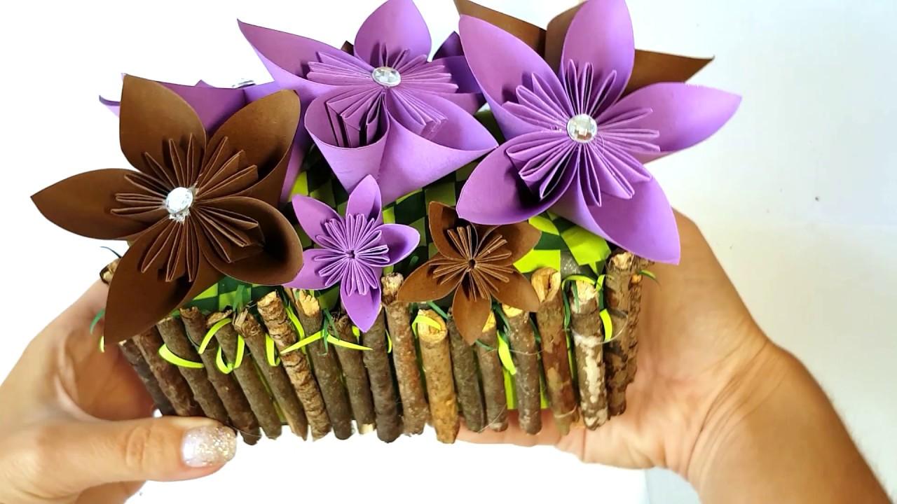 Diy Origami Flowers In Ferrero Rocher Box Craft Tutorial