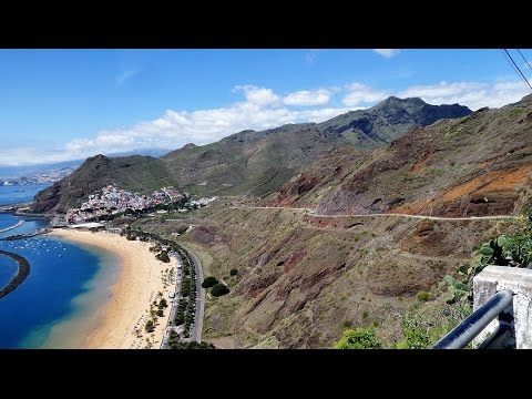 Tenerife San Andres - Punta de los Organos road to sandy beach Playa de Las Teresitas