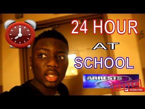 24 HOUR CHALLENGE AT SCHOOL SLEEP OVER (I GOT CAUGHT!!)