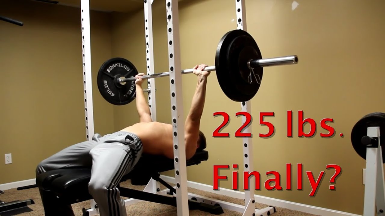 Chest Day Bench Press PR 225 lbs  | 16 Year Old Natural Bodybuilder