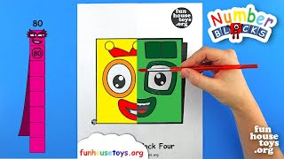 Numberblocks Face Paint | Numberblocks Three and Four | Fun House Toys | Fun Coloring for Kids