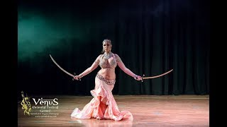 Belly Dance with two swords