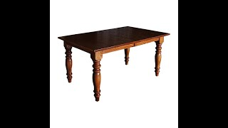 Shaker Dining Tables 4 5 6 8 10 12 14 Foot And Leaves Solid Oak Maple Cherry