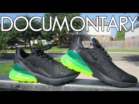 new product 110d4 6dac7 Nike Air Max 270 Black/Volt Green • On-Feet & Review + ...