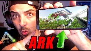 ARK - PROBANDO ARK PARA MOVIL!! XD - Nexxuz