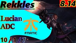 Rekkles as Lucian ADC - S8 Patch 8.14 - EUW Challenger - Full Gameplay