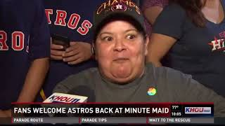Fans welcome back Astros at Minute Maid Park after World Series win
