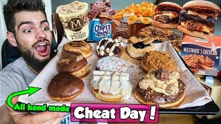 RAW CHEAT DAY w/ ALL HOME MADE FOODS | DONUTS, RIB BURGERS & MORE |  MANvsFOOD