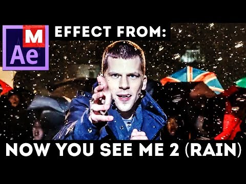 After Effects Tutorial: Raindrops Freeze Time (Advanced) Trapcode Form - Now You See Me 2