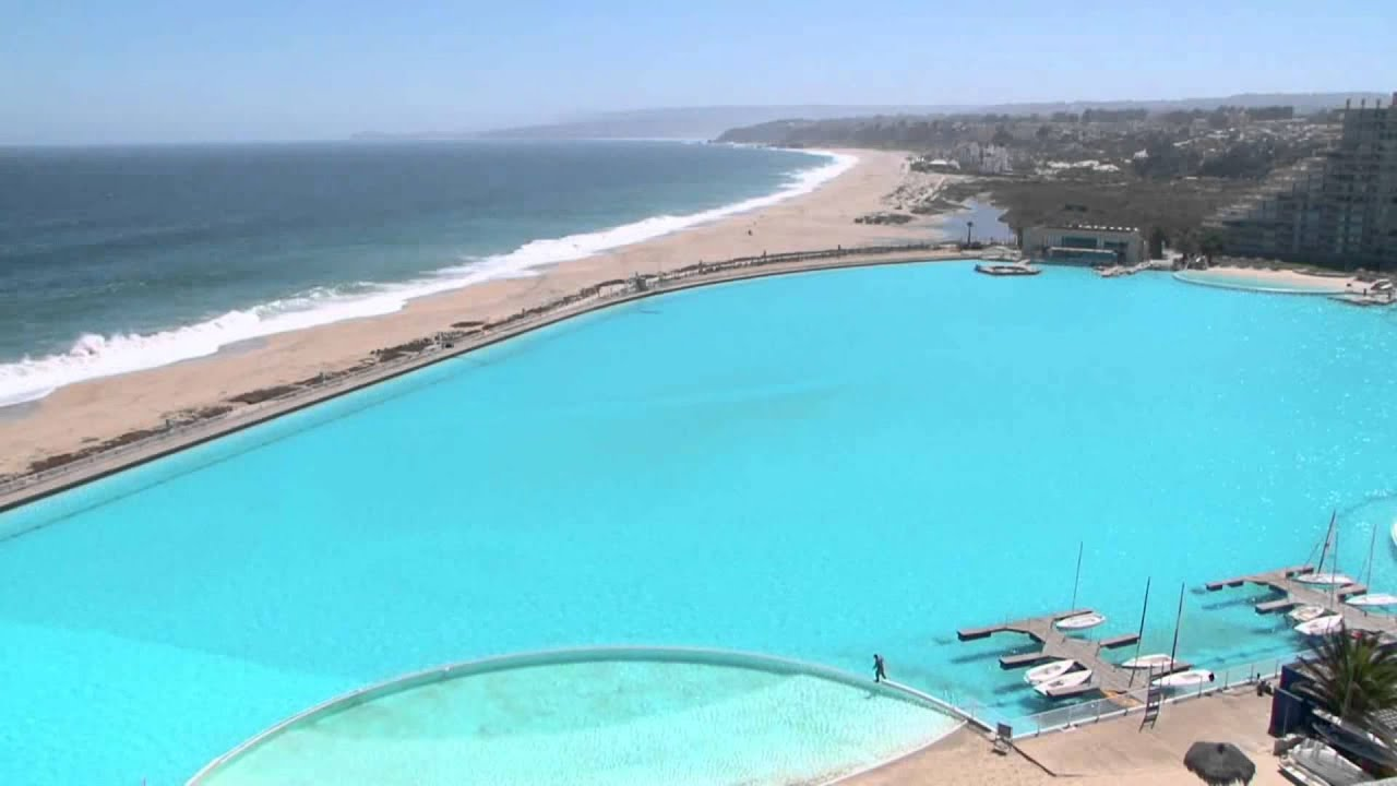 Biggest swimming pool in the world youtube for Largest swimming pool in the us
