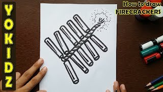 How to draw FIRECRACKERS