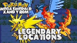 Pokemon Mega Emerald XY: Legendary Locations (Articuno, Zapdos, Moltres)