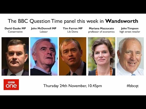 Question Time 24/11/16: Pay hit, Ambassador Farage, health tourism and Tony Blair