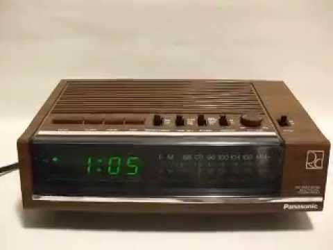 panasonic digital alarm clock radio ebay product demo youtube. Black Bedroom Furniture Sets. Home Design Ideas