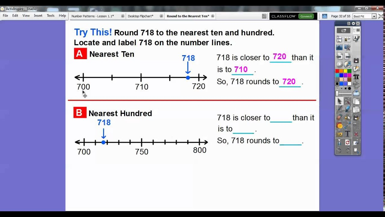 Worksheet Rounding To Nearest 10 round to nearest ten or hundred lesson 1 2 youtube 2