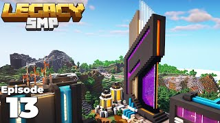 Legacy SMP : Building an AWESOME Nether Portal in Minecraft 1.15 Survival
