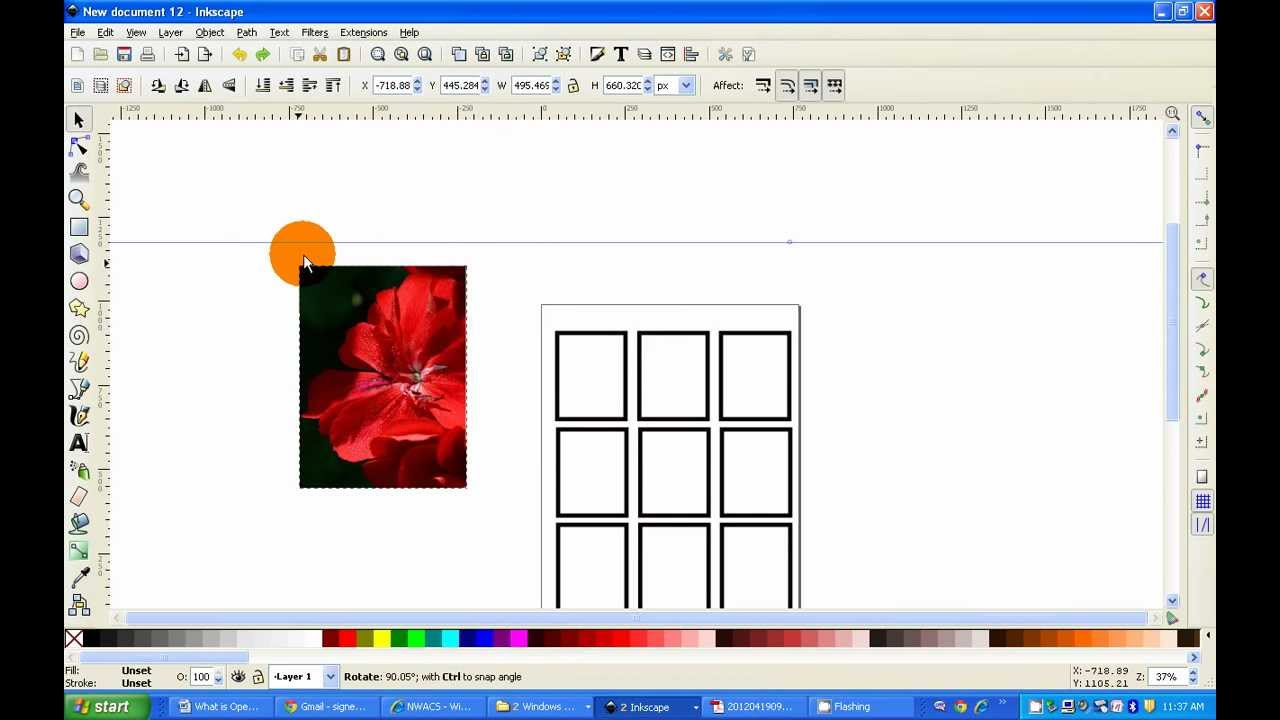 NWACS: How to make a 9-card template using Inkscape