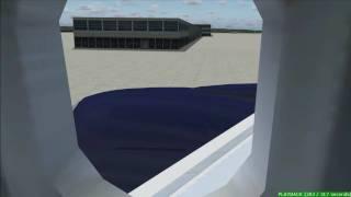 FS2004 United 777 Flight Washington D.C. to Tokyo [HD]