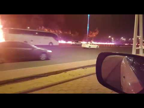 Major accident broke out on Jeddah to Mecca highway Part 1