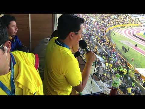 Gol de Ecuador desde la cabina de La Radio Redonda