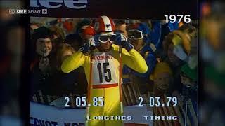 Alpine ski 1976 WC Kitzbuhel, Franz Klammer Downhill