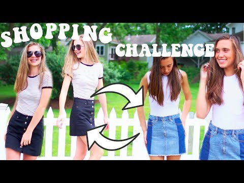 BACK TO SCHOOL SHOPPING CHALLENGE! FIRST DAY OF SCHOOL CLOTHES | Hannah Meloche