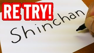 "TRY AGAIN ! How to turn words ""SHINCHAN"", because I misspelled !"