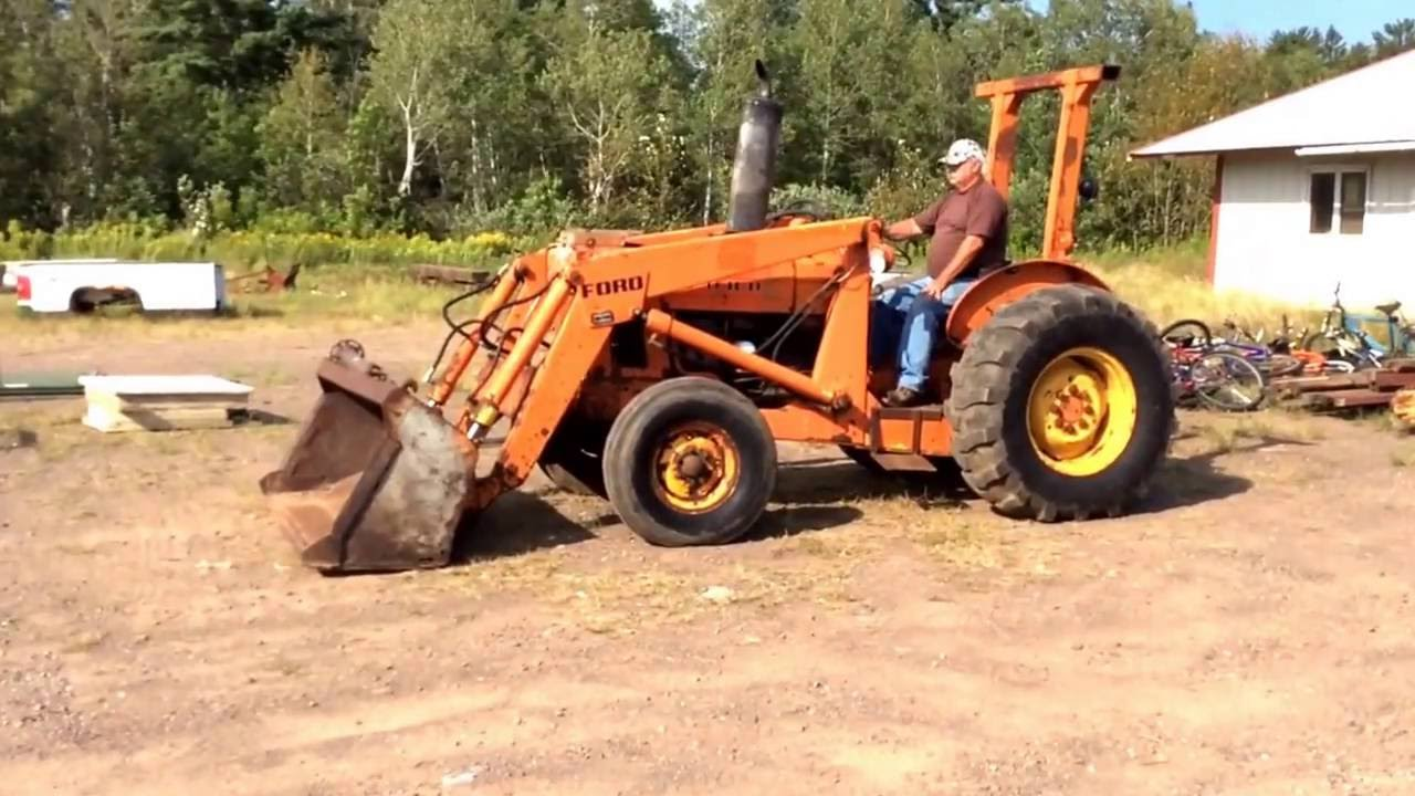 Ford 4500 Industrial Tractor Backhoe : Ford industrial tractor loader youtube